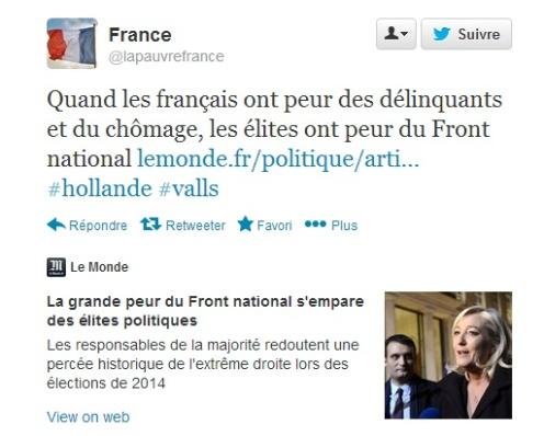 français élites peurs